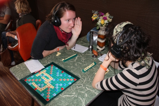 TALK IS SMALL: A PLAY WITH SCRABBLE, 2010 Newcastle. Photo by Justine Cogan.